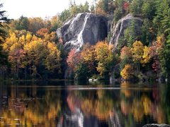 Rock Climbing Photo: Stonehouse Pond in October. On the far left you ca...
