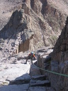 Rock Climbing Photo: Longs Peak Cables Route