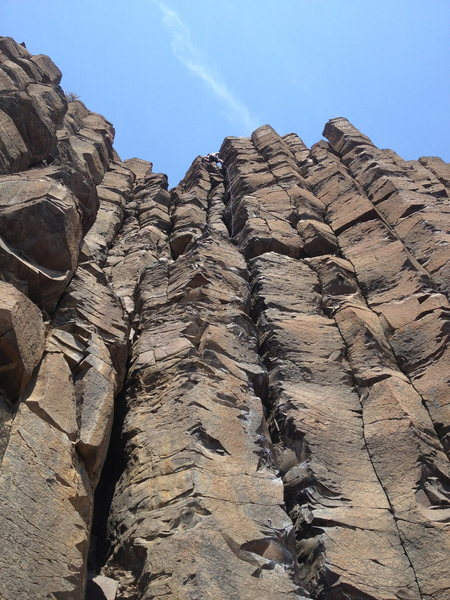 Rock Climbing Photo: I led the last pitch of Chossmaster...fun route!