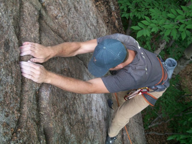 Rock Climbing Photo: First ascent of Clean Yer Act Up.