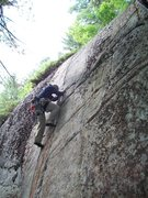 Rock Climbing Photo: Jim on first ascent lead of CMC Crack