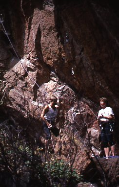 Rock Climbing Photo: Kevin Cooney (l) and Peter Croft (r) base of Soul ...