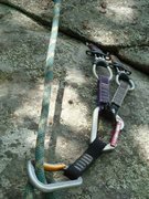 Rock Climbing Photo: A key pc. of pro: two tiny C3s together in a shall...