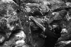 Rock Climbing Photo: Rumney: No money down 5.10c