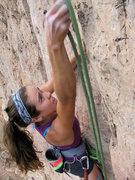 Rock Climbing Photo: Making the crux clip.