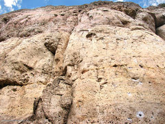 Rock Climbing Photo: The route starts by ascending the small buttress a...