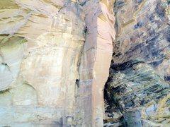 Rock Climbing Photo: Sail F at top of p1 and me following up