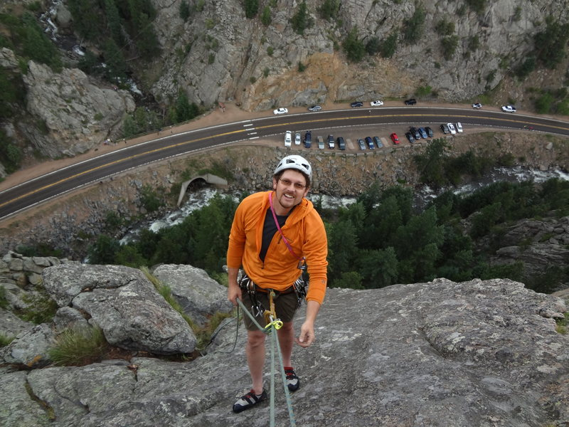 Climbing in Boulder Canyon with Mike Wally.  June 2012.