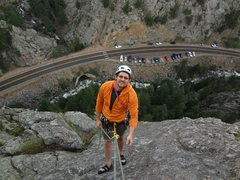Rock Climbing Photo: Climbing in Boulder Canyon with Mike Wally.  June ...