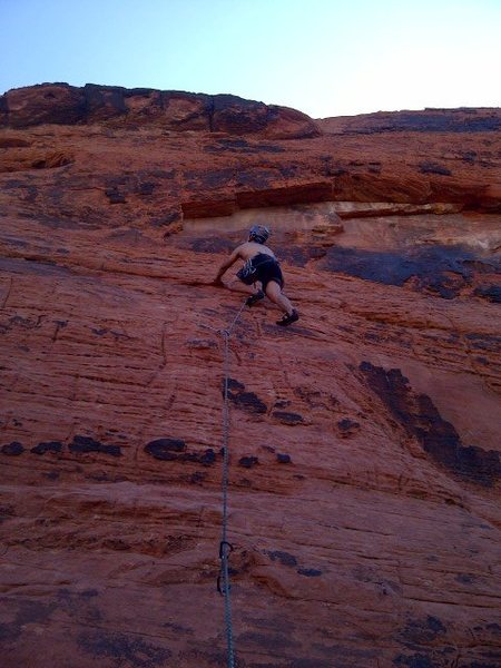 Rock Climbing Photo: My first lead climb. Indeed great for a newbie lea...
