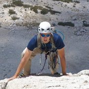 Rock Climbing Photo: Tristan on pitch 2 of the West ridge