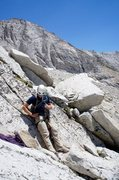 Rock Climbing Photo: start of Pitch 1, West ridge