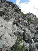 Rock Climbing Photo: Climbing Goody 2 Shoes, Prospector Wall