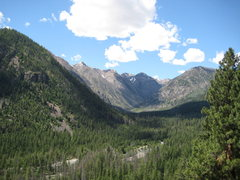 Rock Climbing Photo: The view from Prospector Wall into the valley