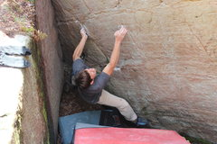 Rock Climbing Photo: Pete on the hardest moves in the beginning of Stin...