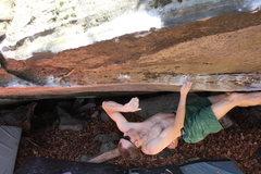Rock Climbing Photo: Nathaniel flashing Like the Dickens