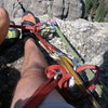 Rappel setup on Spire #3 in the Needles