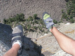 Rock Climbing Photo: Looking down from the West side of Devils Tower. W...