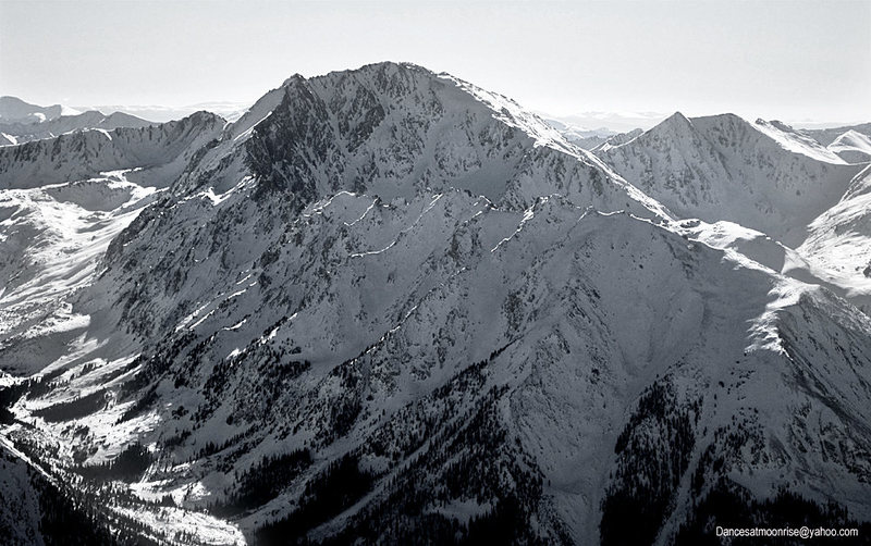 La Plata Peak, seen from South Elbert, 12-28-10.