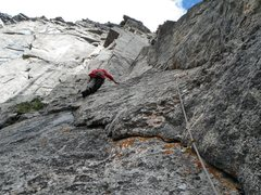 Rock Climbing Photo: Ben starting pitch 2.