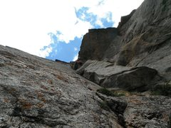 Rock Climbing Photo: The belay for pitch #3.