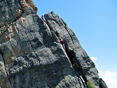 Rock Climbing Photo: The initial chimney pitch.