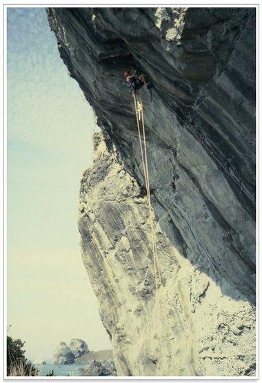 Rock Climbing Photo: On the FA...
