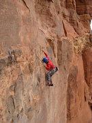 Rock Climbing Photo: Third pitch traverse on the Prosecutor.