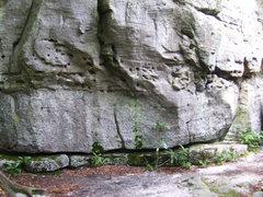 "Rock Climbing Photo: Bottom of ""High Wall Block."" Fun to trav..."