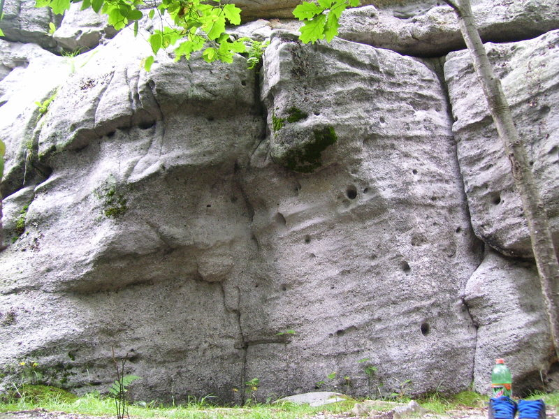 """Problem on back side of """"Rocky Top."""" (Bathroom Boulders)"""