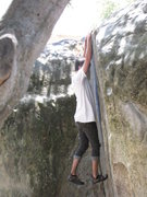 Rock Climbing Photo: Just after the corner on High Pacific Street Trave...