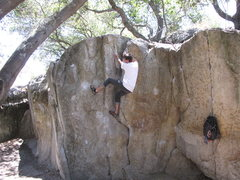 Rock Climbing Photo: On a V2 problem on the Crack Face of Pacific Stree...