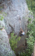 Rock Climbing Photo: Ryan sending Coup d'Etat.