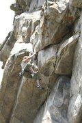 Rock Climbing Photo: Going through the 1st crux...great climb.