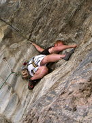 Rock Climbing Photo: Erik the crazy one.