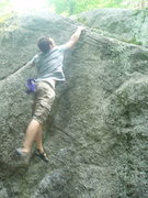 Rock Climbing Photo: Going for the top on thrust fault