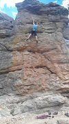 """Rock Climbing Photo: Nathan Fox soloing the """"Unknown 5.8"""" at ..."""