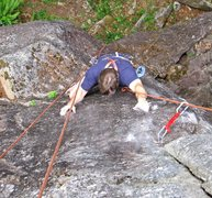 Rock Climbing Photo: On the knob section of Flippo.