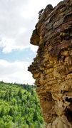Rock Climbing Photo: Finishing Unknown 5.7+