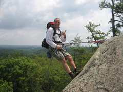 Rock Climbing Photo: Christopher Lane rap'n at Steps.