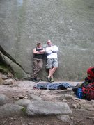 Rock Climbing Photo: Alan Jenkins and Christopher Lane having another g...