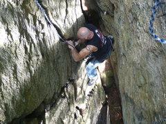 Rock Climbing Photo: Alan Jenkins taking a crack.