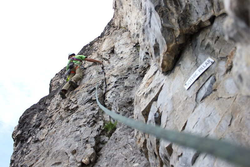 Rock Climbing Photo: The first pitch crack of the Gothic Pillar