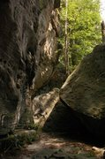 """Rock Climbing Photo: Looking toward """"Swiss Cheese"""" from &quot..."""