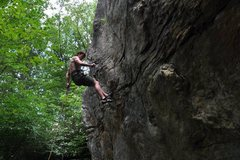 "Rock Climbing Photo: Repelling down ""Bolted Block"" after sett..."