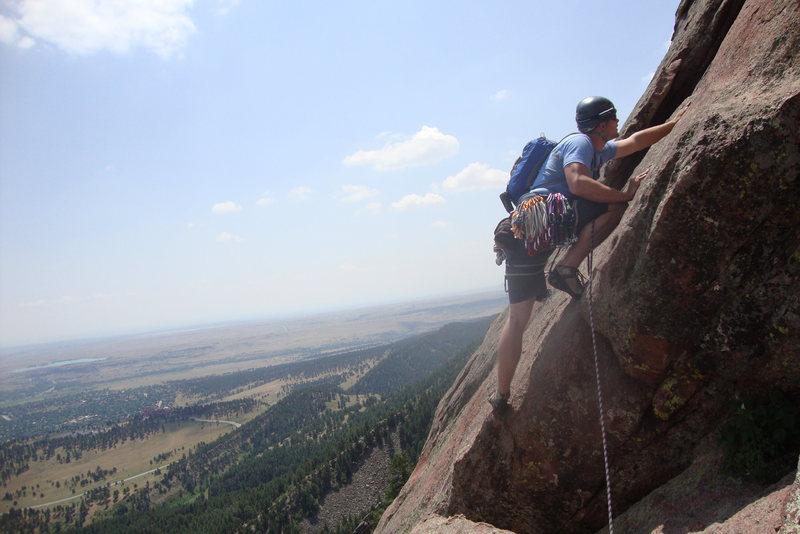 Rock Climbing Photo: Colorado, First Flatiron