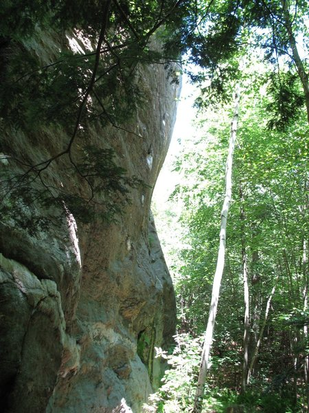 Profile of cliff N of Leatherman's Cave