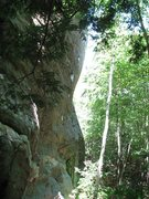 Rock Climbing Photo: Profile of cliff N of Leatherman's Cave