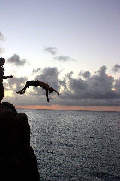Jump Rock<br> Waimea Bay, Oahu, HI