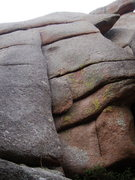Rock Climbing Photo: Arete Already starts at the bottom-center of the p...